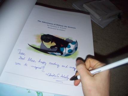First autograph--congrats to Tessa!!