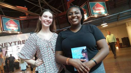 Ashley and Racinda. They were truly fun and lovely to talk to!! Racinda is into drama and should totally do book readings for me.